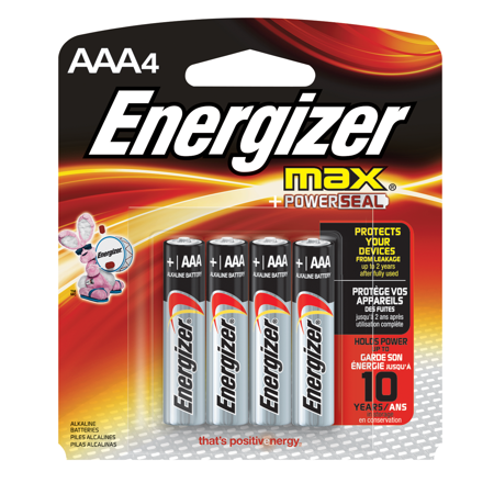 Energizer MAX Alkaline, AAA Batteries, 4 Pack