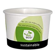 100% Compostable Biodegradable Eco-Friendly Disposable Durable Take Out 12 Oz Food Container (15 pack with lids)