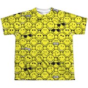 Smiley Men's  Smile Pile  Sublimation T-shirt White