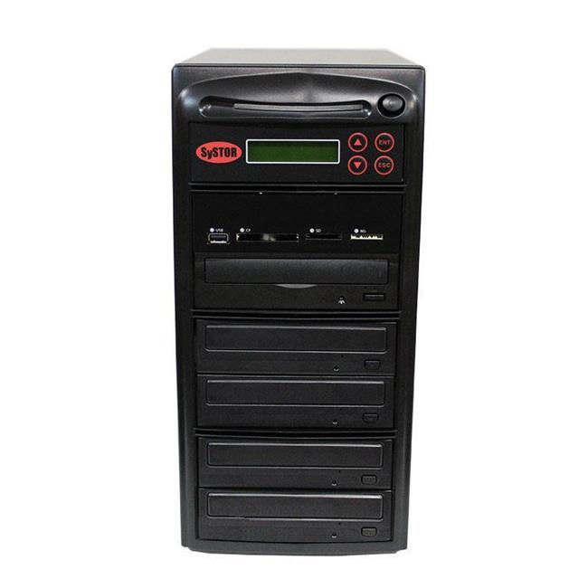 Produplicator PMBC-4 Systor 1-4 Disc Duplicator with USB, SD & CF to Disc Backup Copier Tower