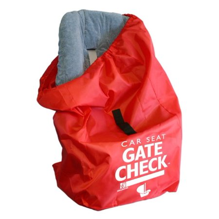 JL Childress Gate Check Bag for Car Seats, Red (Best Car Seat Travel Bag 2019)