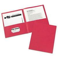 Avery 2 Pocket Paper Portfolio, 30-Sheet Capacity, Red, 25 per Box