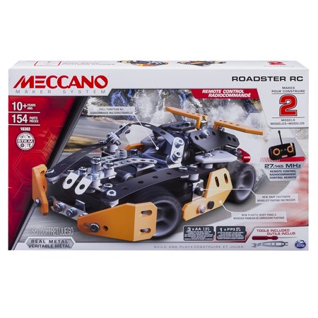 Erector by Meccano Roadster RC Model Building Set, 154 Pieces, For Ages 10 and up, STEM Construction Education - Erector Sets
