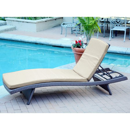 Jeco Wicker Chaise Lounge Cushion