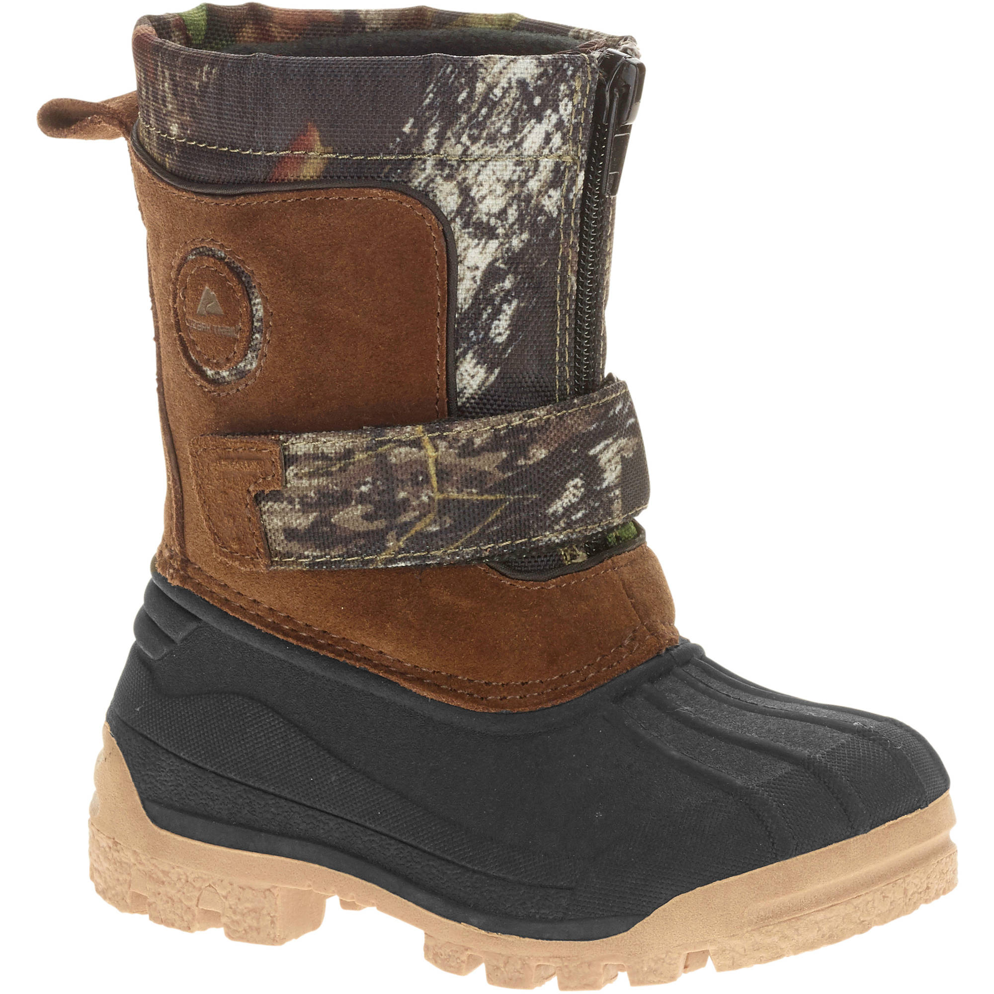 Ozark Trail Toddler Boy's Camo Zip-up Winter Boot