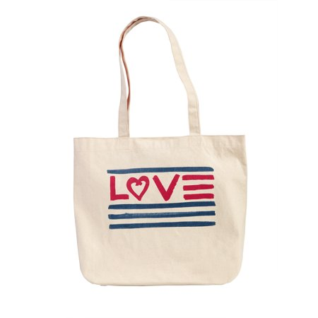 "EV1 ""Love"" Canvas Market Tote"