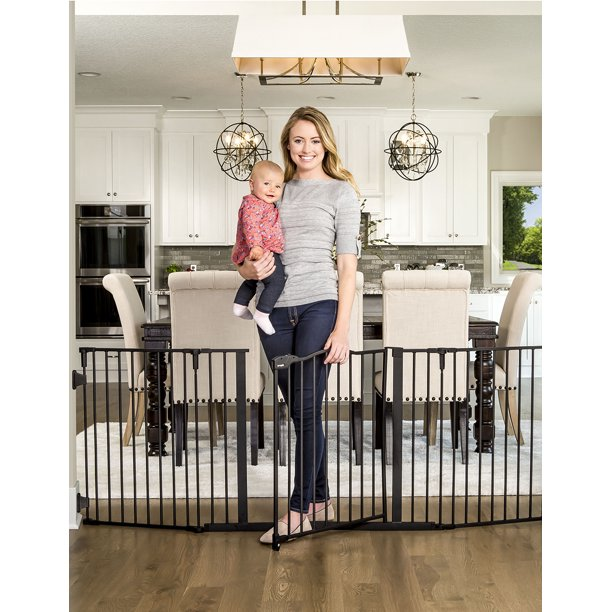 Regalo Deluxe Home Accents 74 Inch Widespan Safety Gate Includes 4 Pack Of Wall Mounts Walmart Com Walmart Com