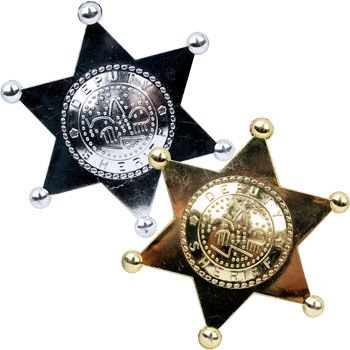 Sheriff's Badge (12 Count) - Party Supplies