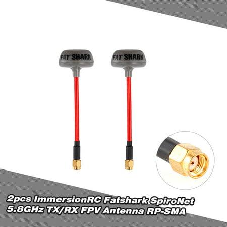 Fatshark ImmersionRC SpiroNet 5.8GHz TX/RX RHCP FPV Antenna RP-SMA for QAV250 RC FPV Racing Drone (Best Fpv Goggles For The Money)