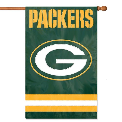 Party Animal Packers Applique Banner Flag