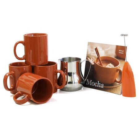 Barista Coffee Connoisseur 7 Piece Cinnamon Mugs and Completer