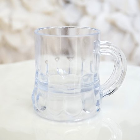 Oktoberfest Plastic Beer Mugs (Mini Clear Plastic Beer Mug Shot Glasses, 1.75
