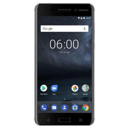Nokia 6 TA-1025 32GB Unlocked GSM Android Phone w/ 16MP Camera - Black (Nokia Keypad Unlocked Mobile)