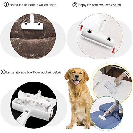 Pet Hair Remover Roller Self Cleaning, How To Get Short Dog Hair Off Car Seats