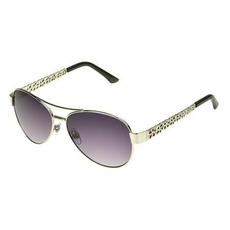 Foster Grant Women's Silver Aviator Sunglasses (Foster Grant Aviator Sunglasses Amazon)