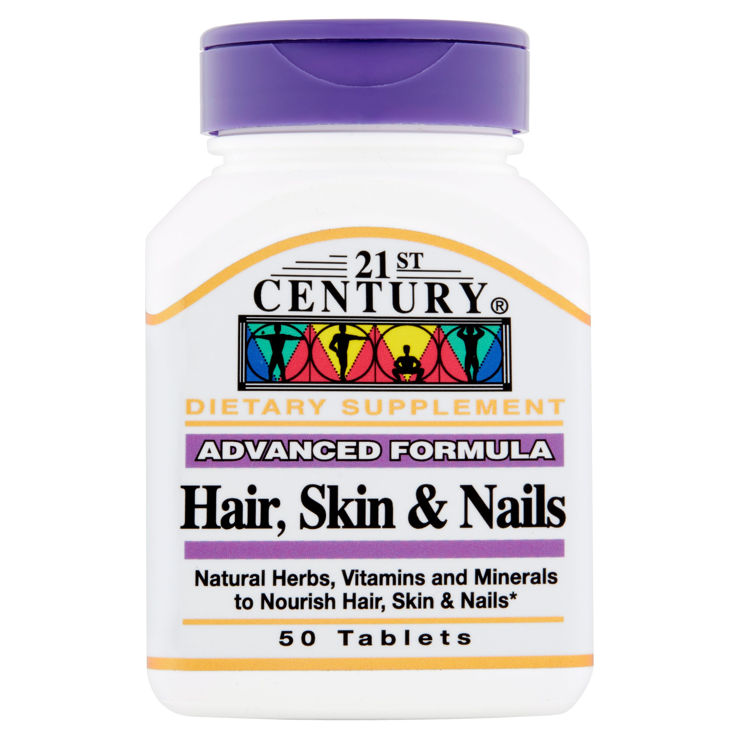 21st Century Hair, Skin & Nails Tablets, 50 count - Walmart.com