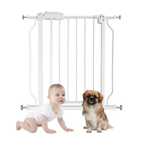 Baby Gate Play Yard, Auto Close Safety Baby Gate with Swim Door, 29