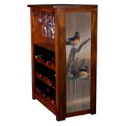 """Tranquil Waters Wooducks"" Wine Cabinet"