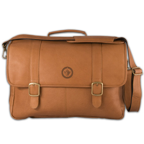 Pangea Brands NHL Porthole Laptop Leather Briefcase