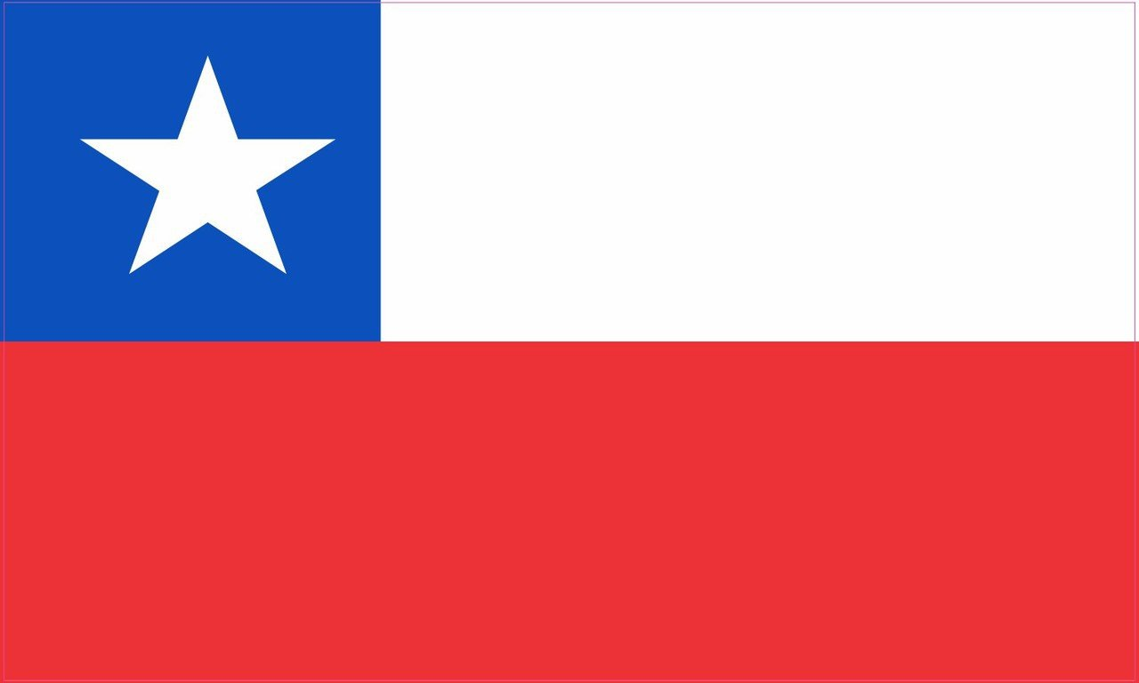 5in x 3in Chile Chilean Flag Magnet Vinyl Country Flag Vehicle Magnets by StickerTalk®