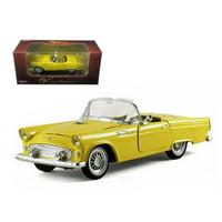 Arko 05521y 1955 Ford Thunderbird Convertible Yellow 1-32 Diecast Car Model