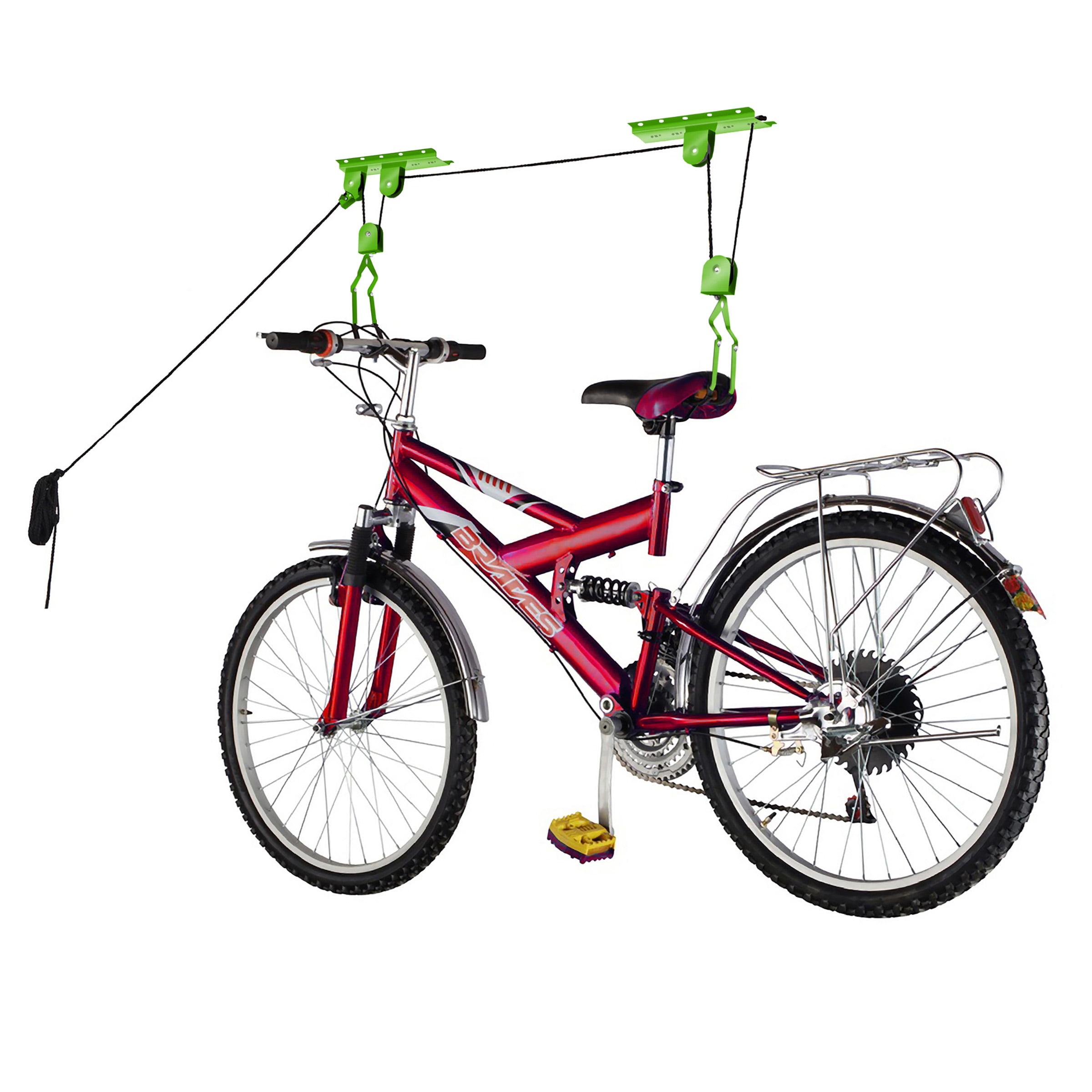 2009 Bike Lane Bicycle Garage Storage Lift Bike Hoist 100LB Capacity Heavy Duty