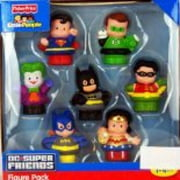 Fisher Price Little People DC Super Friends Exclusive Figure Pack of 7