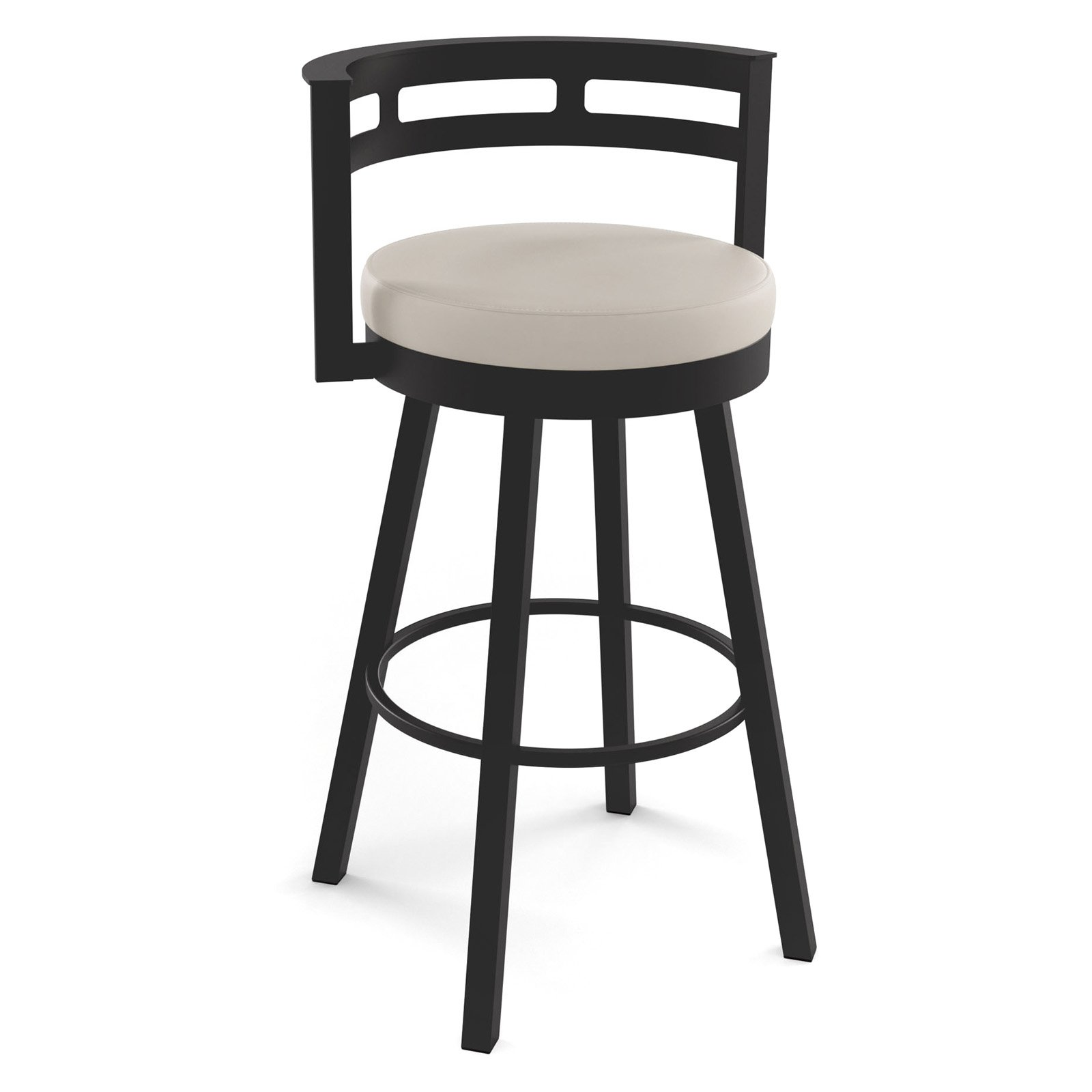 Amisco Render 27 in. Swivel Counter Stool