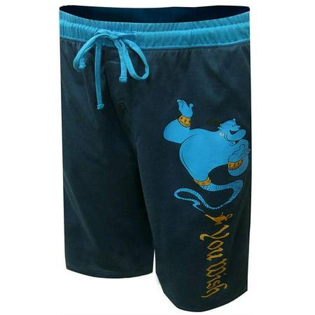Old Navy Blue Shorts (Disney Men's Aladdin Genie Lounge Shorts Navy Blue, Navy Blue, Size:)