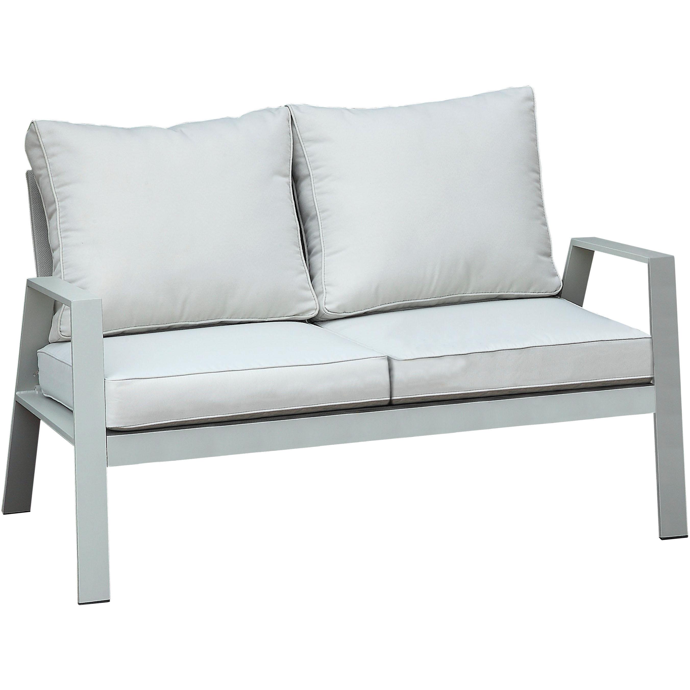 Furniture of America Colton Patio Loveseat, Gray