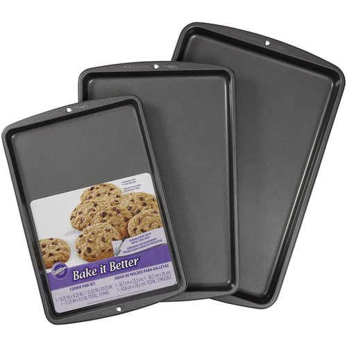 Wilton Bake It Better 3-Piece Cookie Sheet Pan Set, 2105-0197