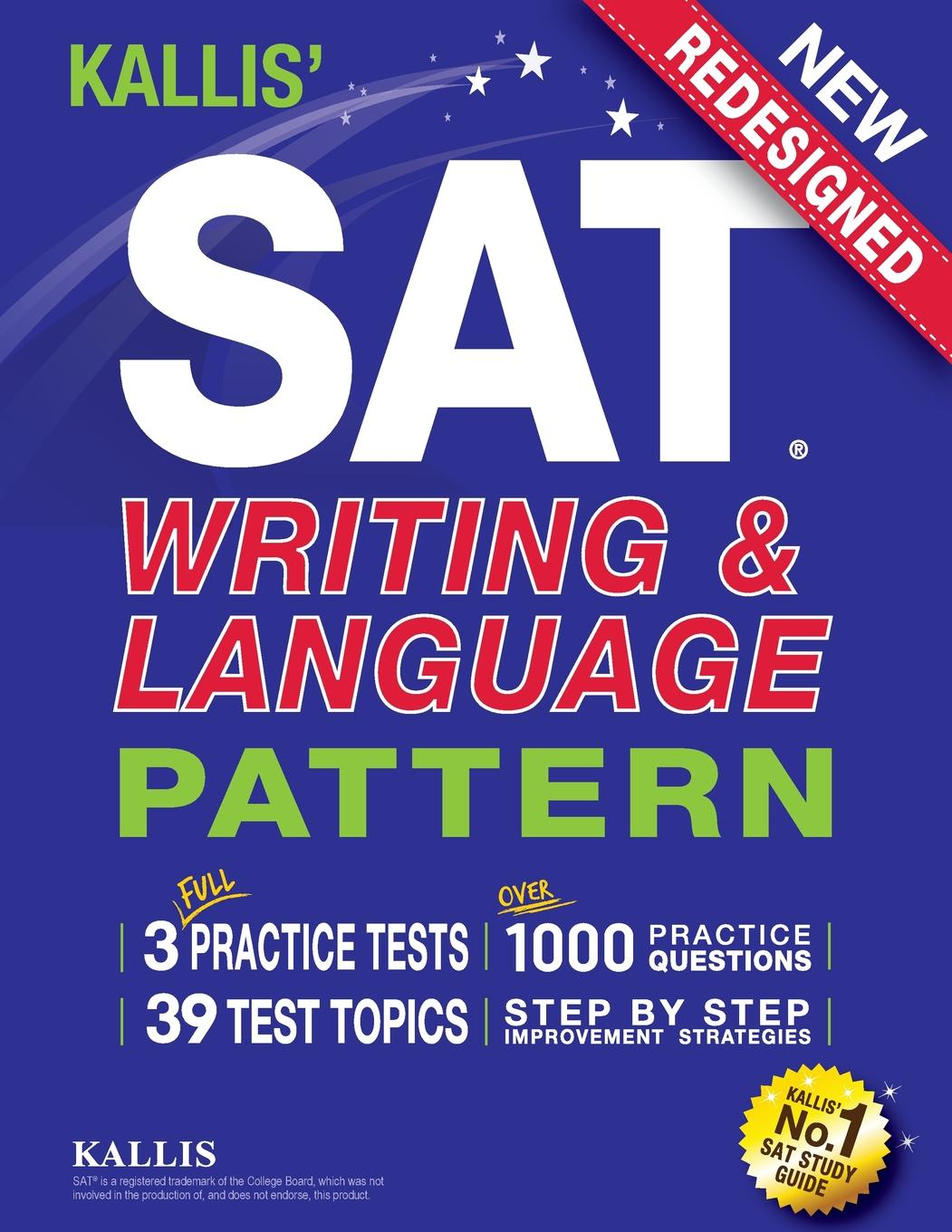 Workbook study guide about this item array kallis u0027 sat writing and language pattern workbook study guide for rh walmart com fandeluxe Images