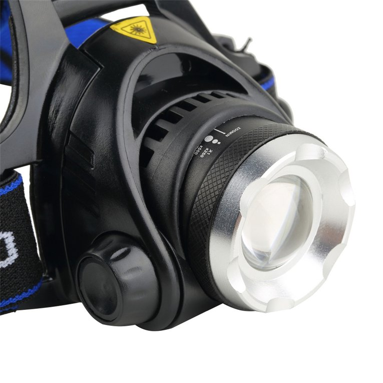 Hot Sale Aluminum 2000 Lumens XM-L T6 LED Beads 18650 Zoomable Zoom Out Headlamp Headlight Night Torch for Camping