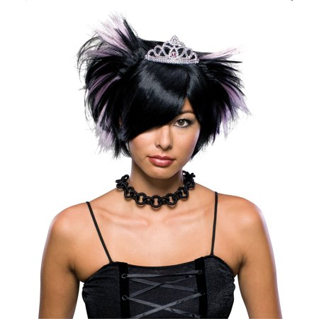 Adult Womens Gothic Emo Princess Prom Queen Wig Short Hair Costume Accessory