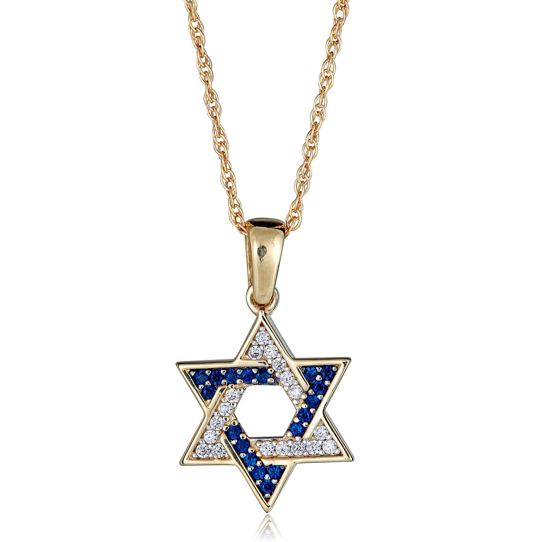10K Rose Gold Jewish Star of David DC Charm Necklace