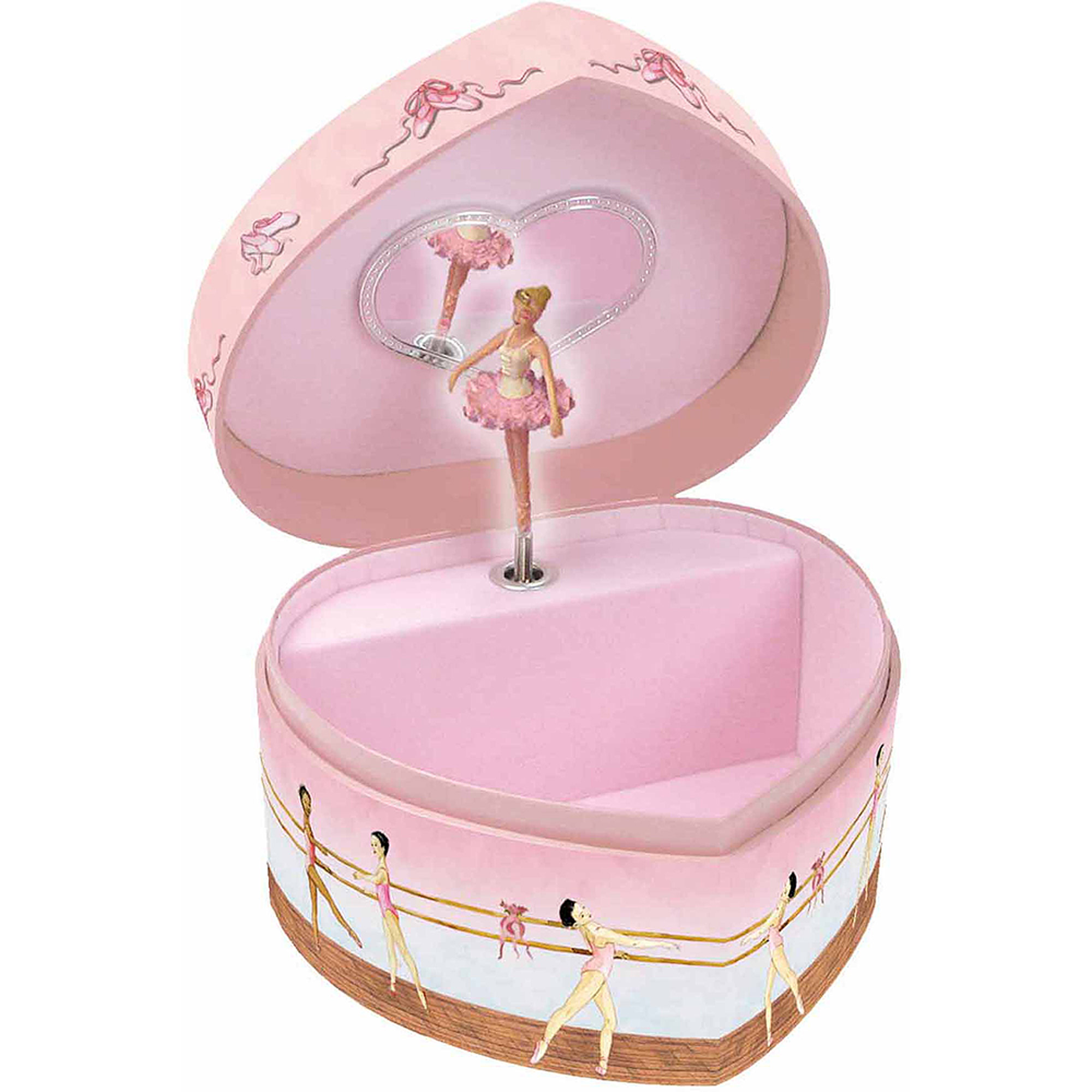 Enchantmints Ballet Heart-Shape Music & Treasure Box