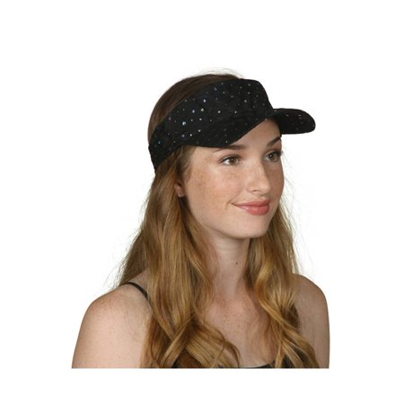 TopHeadwear Glitter Sequin Visor Hat (Various Colors)](Baby Blue Top Hat)