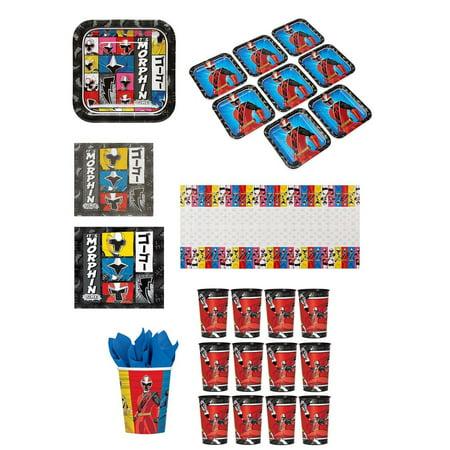 - Power Rangers Party Bundle: 32x Plates, 32x Napkins, 32x Cups, 2x Covers