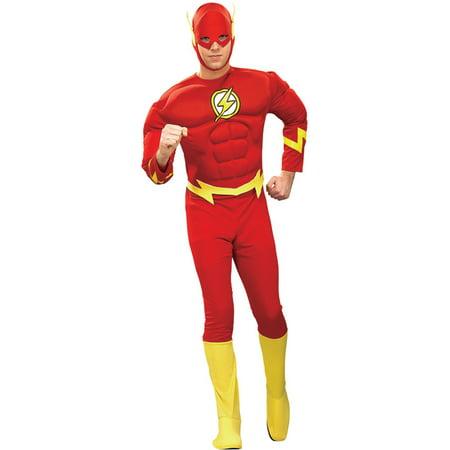 Morris Costumes Mens Superheroes & Villains Flash Muscle Costume L, Style RU88079LG (Flash Costume Men)