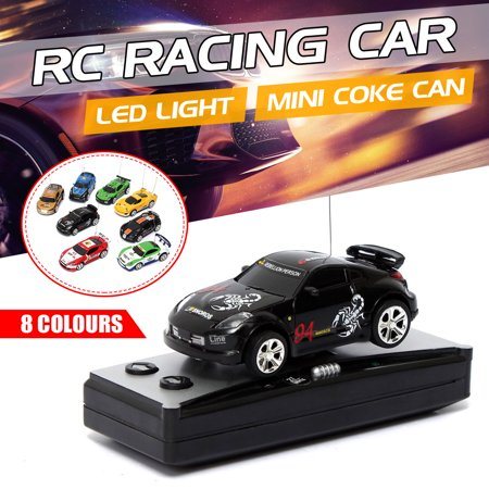 Gold Racing - Mini Coke Can RC Radio Remote Control Racing Car Vehicles Children Gift Toy Christmas Gift