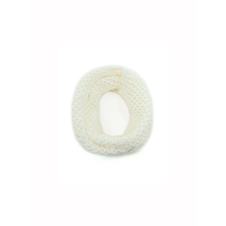 Unique-Bargains Unisex Winter Wearing Warm Hollow Out Knitted Circle (Wear Mens Scarf)
