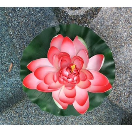Garden Large Water Lily Artificial Flower for Pond Water Feature Pool 16