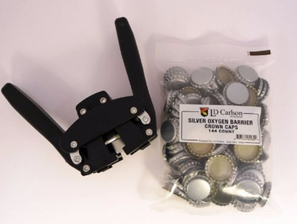 Silver Oxygen Barrier Crown Caps 144 Count Kitchen & Dining Beer ...