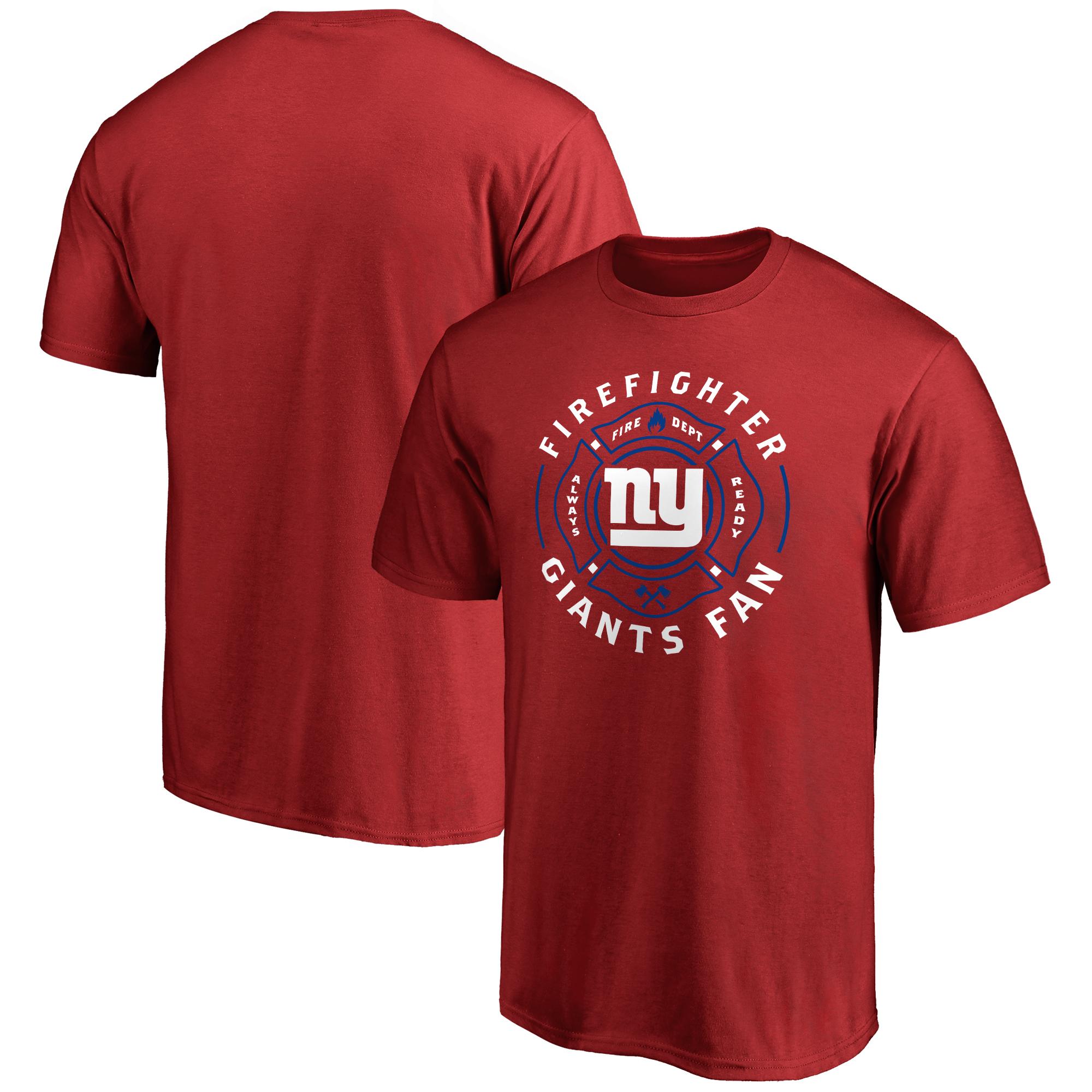 New York Giants NFL Pro Line Firefighter T-Shirt - Red