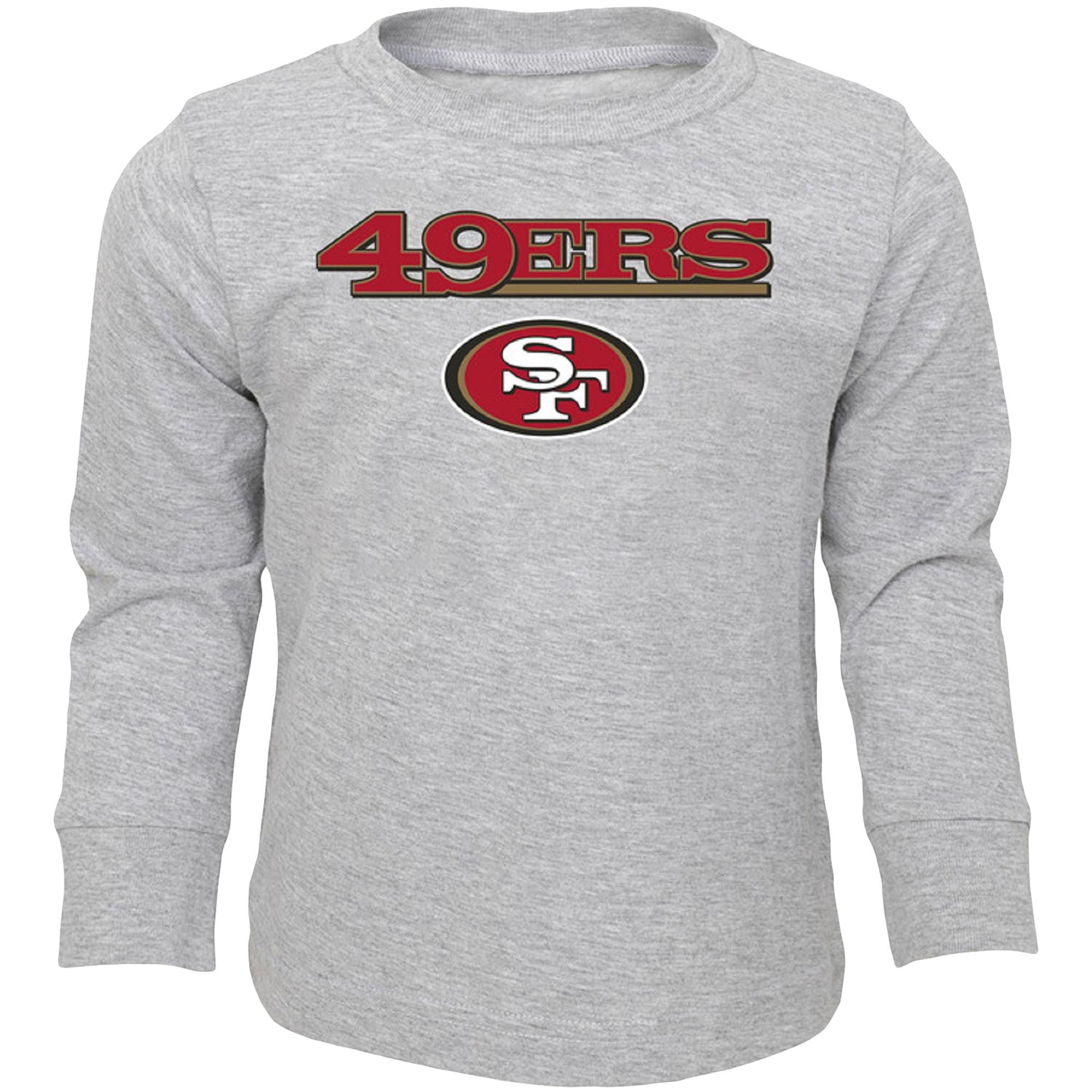 Infant Heathered Gray San Francisco 49ers Team Long Sleeve T-Shirt