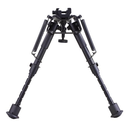 Adjustable Universal Rifle Bipod with Swivel Stud Rail Mount Adapter (6
