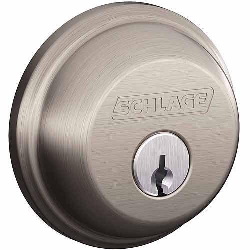 Schlage B60NV619 Satin Nickel Single Cylinder Deadbolt
