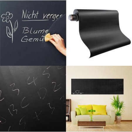 200CMX60CM Blackboard Sticker Self-Adhesive Wall Sticker Wall Paper Chalkboard Contact Paper For School/ Office/