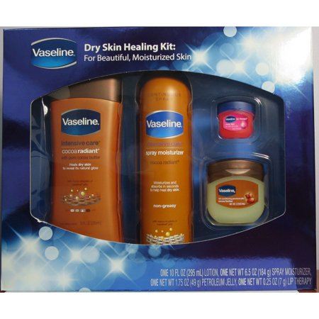 Vaseline  Dry Skin Healing Kit Cocoa Radiant 4-piece Gift