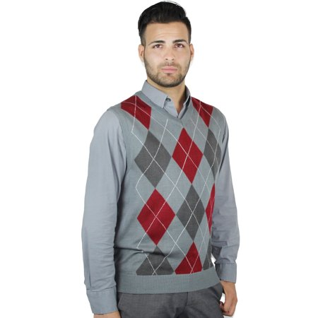 Men's Argyle Sweater Vest (Argyle Mens Sweater)